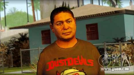 GTA 5 Ped 19 pour GTA San Andreas troisième écran