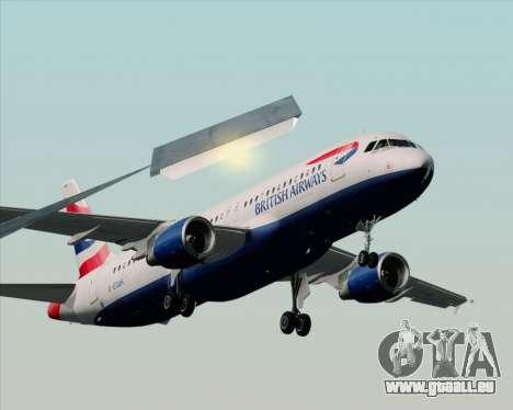 Airbus A320-232 British Airways für GTA San Andreas Rückansicht
