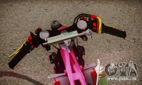 Super Cub Drag pour GTA San Andreas sur la vue arrière gauche
