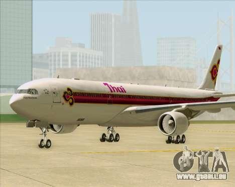 Airbus A330-300 Thai Airways International für GTA San Andreas zurück linke Ansicht