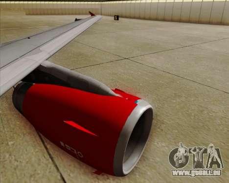 Airbus A319 Air Canada Rouge pour GTA San Andreas vue de dessous