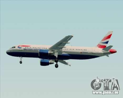 Airbus A320-232 British Airways pour GTA San Andreas vue intérieure