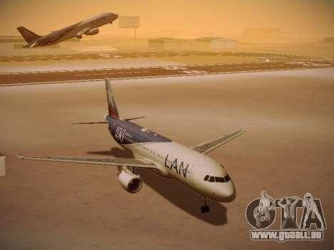 Airbus A320-214 LAN Airlines 100th Plane für GTA San Andreas Seitenansicht