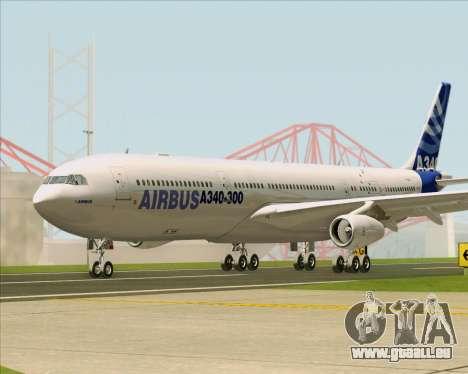 Airbus A340-311 House Colors pour GTA San Andreas vue intérieure