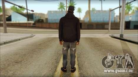 New Grove Street Family Skin v2 pour GTA San Andreas deuxième écran