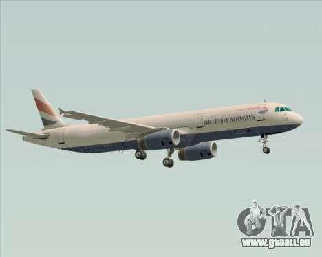 Airbus A321-200 British Airways für GTA San Andreas obere Ansicht