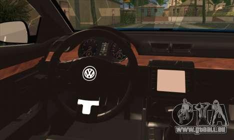 Volkswagen Passat CC Polizei 2013 v1.0 pour GTA San Andreas sur la vue arrière gauche