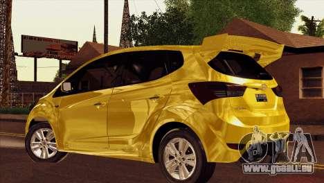 Hyundai IX20 2011 pour GTA San Andreas laissé vue