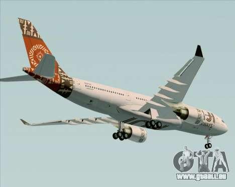 Airbus A330-200 Fiji Airways für GTA San Andreas obere Ansicht