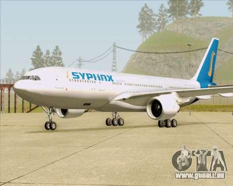 Airbus A330-200 Syphax Airlines pour GTA San Andreas sur la vue arrière gauche