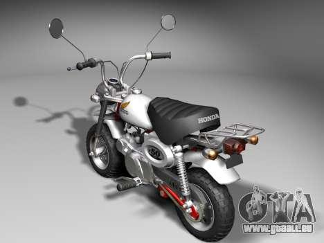 Honda Z50J Monkey für GTA San Andreas zurück linke Ansicht