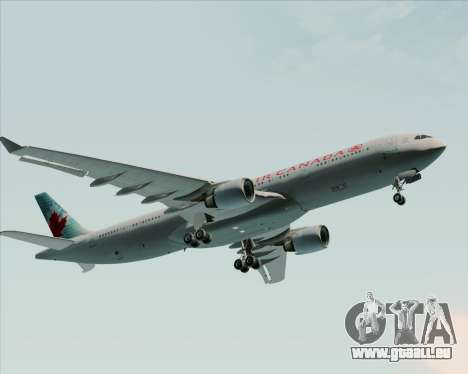 Airbus A330-300 Air Canada pour GTA San Andreas vue de dessus