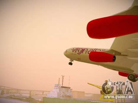 Airbus A340-300 Virgin Atlantic pour GTA San Andreas salon