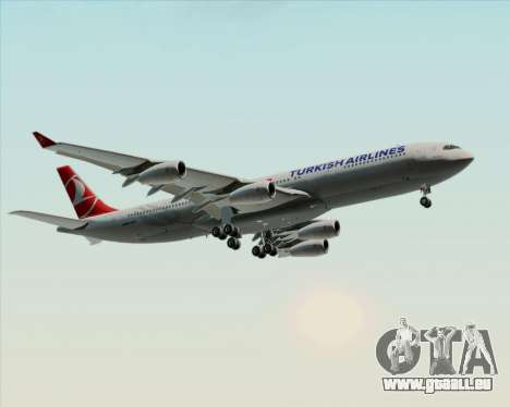 Airbus A340-313 Turkish Airlines pour GTA San Andreas roue