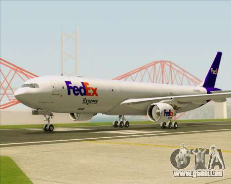 Airbus A330-300P2F Federal Express pour GTA San Andreas vue arrière