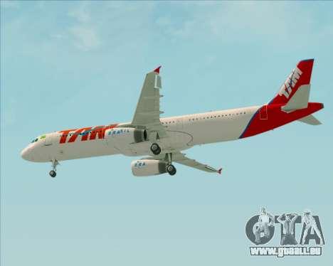 Airbus A321-200 TAM Airlines pour GTA San Andreas vue intérieure