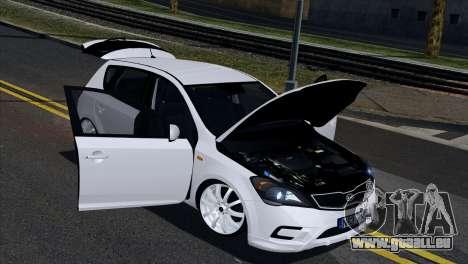 Kia Ceed pour GTA San Andreas vue intérieure