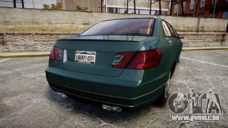 Benefactor Schafter Limousine für GTA 4 hinten links Ansicht