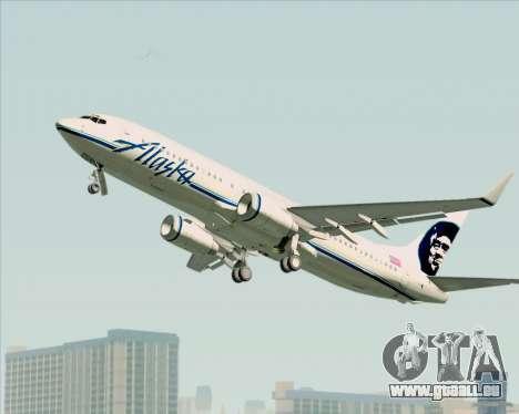 Boeing 737-890 Alaska Airlines für GTA San Andreas Rückansicht