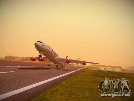 Airbus A340-300 Virgin Atlantic pour GTA San Andreas laissé vue