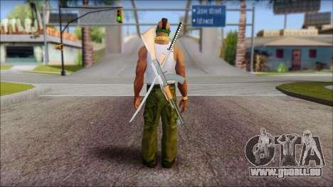 MR T Skin v12 pour GTA San Andreas deuxième écran