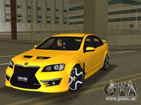 Holden HSV GTS 2011 für GTA Vice City Rückansicht