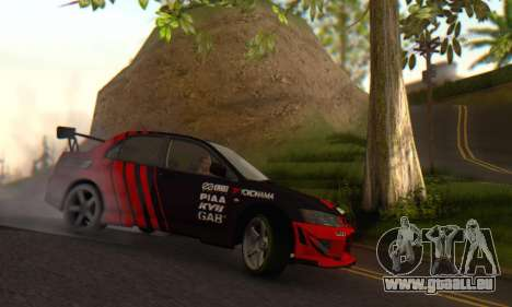 Mitsubishi Lancer Turkis Drift Advan für GTA San Andreas