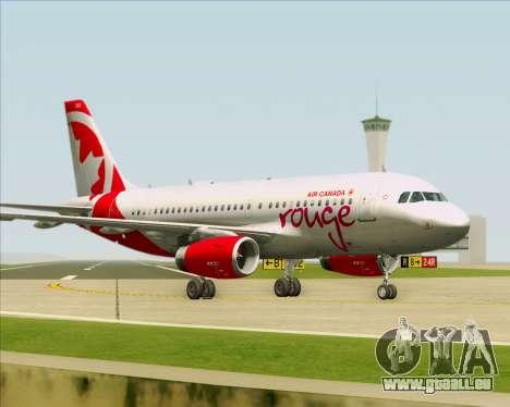 Airbus A319 Air Canada Rouge für GTA San Andreas Räder
