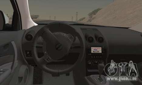 Nissan Qashqai TR POLICE pour GTA San Andreas sur la vue arrière gauche