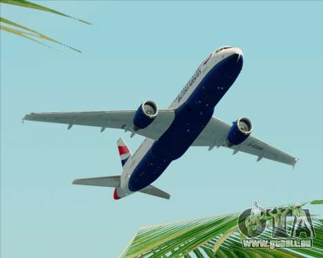 Airbus A320-232 British Airways pour GTA San Andreas