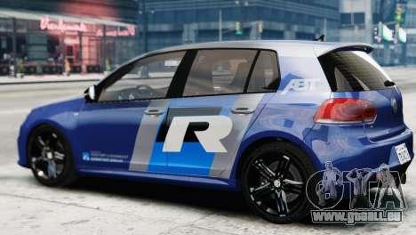 Volkswagen Golf R 2010 ABT Paintjob für GTA 4 linke Ansicht