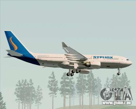 Airbus A330-200 Syphax Airlines pour GTA San Andreas vue de dessous