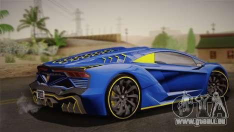 GTA 5 Zentorno für GTA San Andreas linke Ansicht