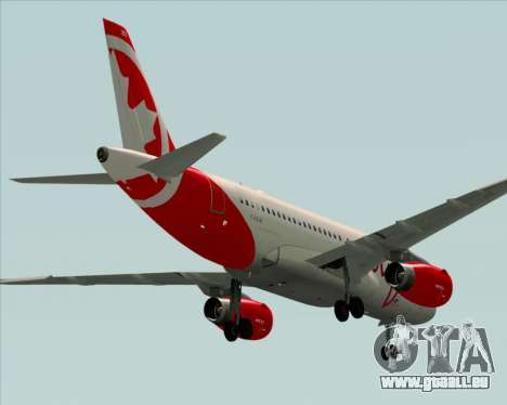 Airbus A319 Air Canada Rouge pour GTA San Andreas vue de droite