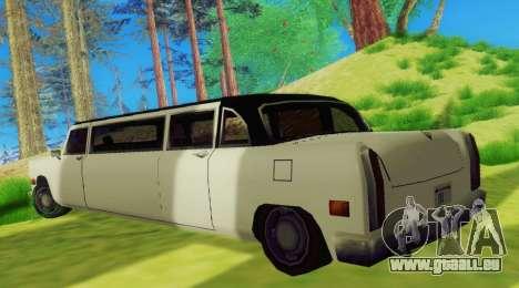 Cabbie Limousine für GTA San Andreas rechten Ansicht