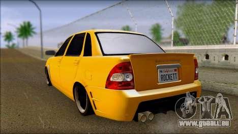 Lada 2170 Priora Hennessey Performance pour GTA San Andreas laissé vue