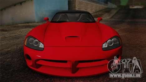 Dodge Viper SRT-10 2003 für GTA San Andreas Rückansicht