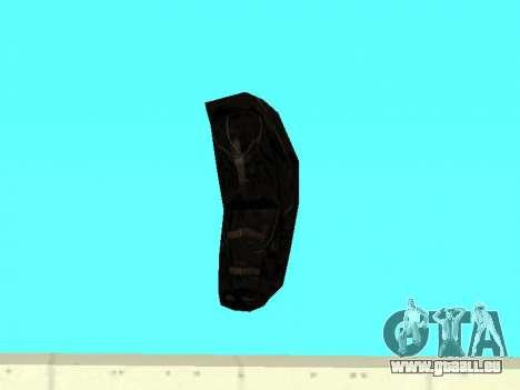 Noir sac à dos de Stalker pour GTA San Andreas quatrième écran