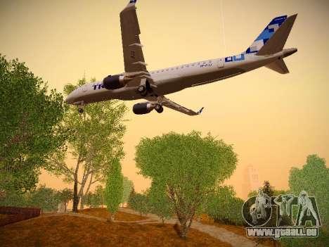 Embraer E190 TRIP Linhas Aereas Brasileira für GTA San Andreas Unteransicht