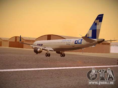 Embraer E190 TRIP Linhas Aereas Brasileira für GTA San Andreas zurück linke Ansicht