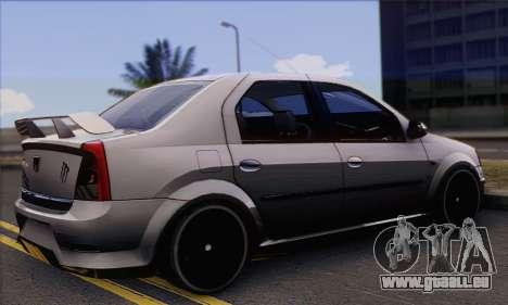 Dacia Logan Hoonigan Edition pour GTA San Andreas laissé vue