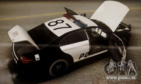 Vapid Police Interceptor from GTA V für GTA San Andreas Motor