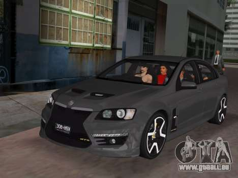 Holden HSV GTS 2011 pour GTA Vice City Salon