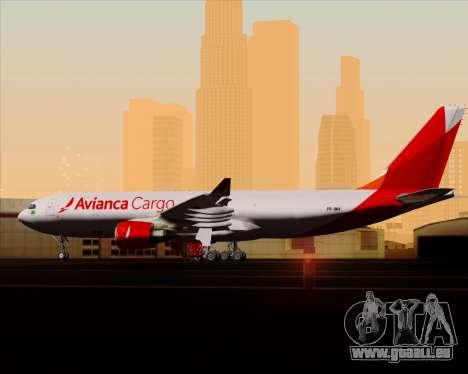 Airbus A330-243F Avianca Cargo für GTA San Andreas Innen