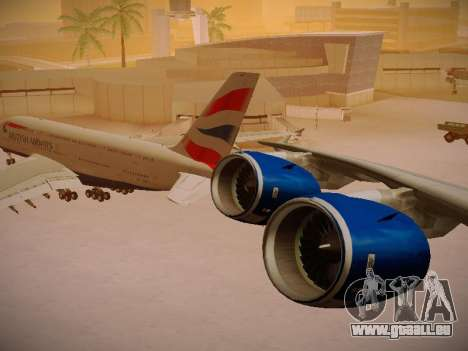 Airbus A380-800 British Airways für GTA San Andreas