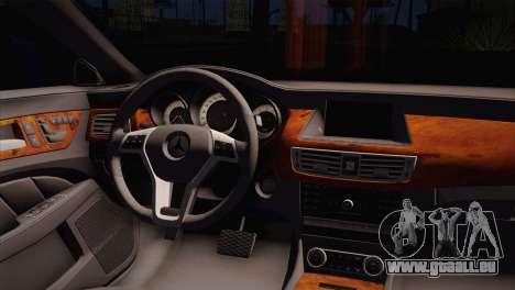 Mercedes-Benz CLS63 AMG für GTA San Andreas zurück linke Ansicht