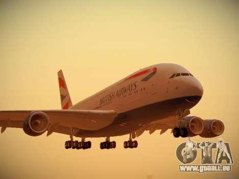 Airbus A380-800 British Airways pour GTA San Andreas laissé vue