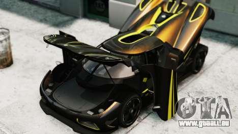 Koenigsegg Agera R 2013 PJ2 pour GTA 4 est un droit