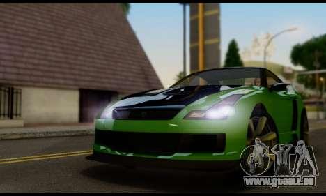 GTA V Elegy RH8 Twin-Turbo (IVF) pour GTA San Andreas sur la vue arrière gauche