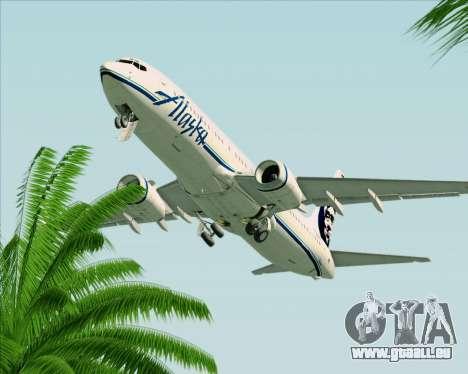 Boeing 737-890 Alaska Airlines für GTA San Andreas obere Ansicht